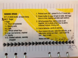 This is the original recipe cut out of the bag. See my handwritten notes? This is how ALL my recipes look :)