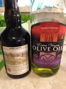 balsamic and olive oil