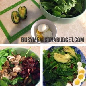 spinach salad collage2