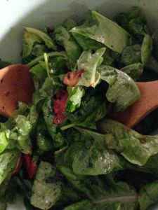 Spinach salad tossed